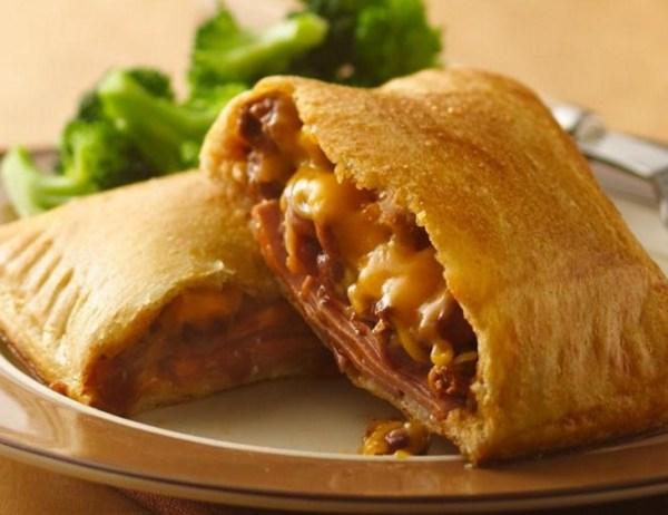 Bologna and Chili Crescent Sandwiches