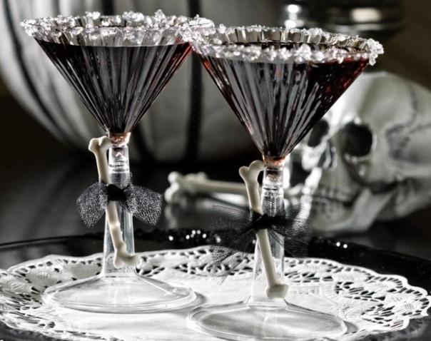 Bone-Chilling Black Martini