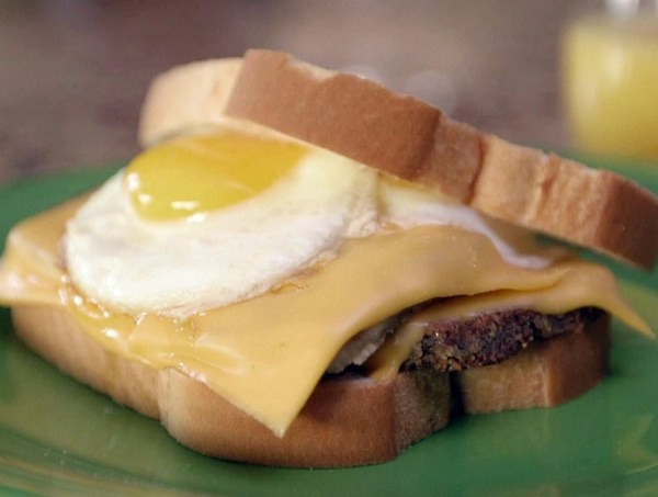 Fried Egg & Scrapple Sandwich