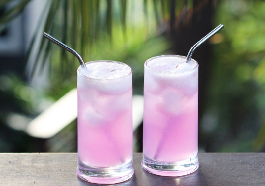 Homemade Pink Dragon Fruit Fizzy Drink