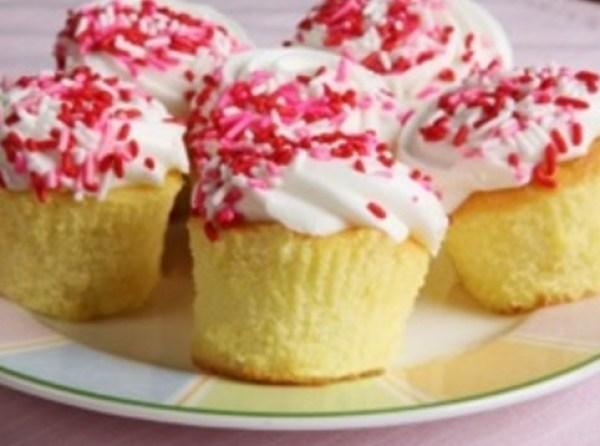 Golden Vanilla Cupcakes