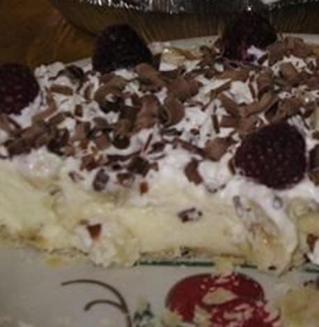 Vanilla Bavarian Cream Pie