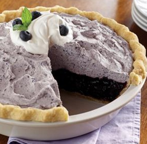 Blueberry Bavarian Cream Pie