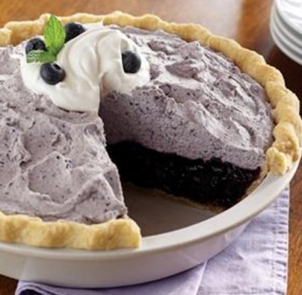 Blueberry Bavarian Cream Pie