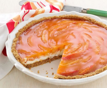 Peach Bavarian Cream Pie