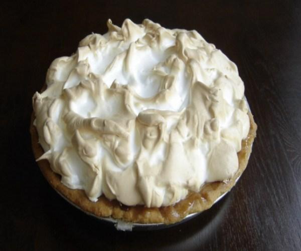 Eggnog Bavarian Cream Pie