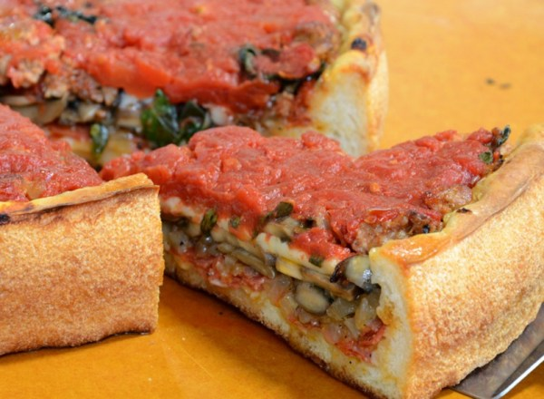Perforated & Crunchy Deep Dish Pizza