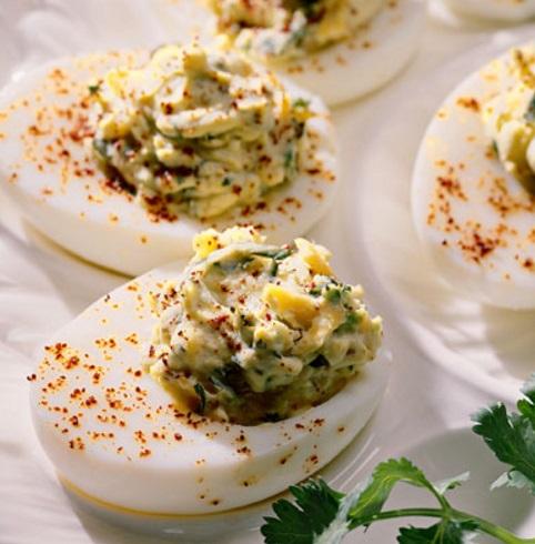 Tex-Mex Hard-Boiled Deviled Eggs