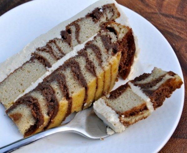 Real Healthy Zebra Cake