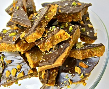Pistachio Chocolate Covered Toffee