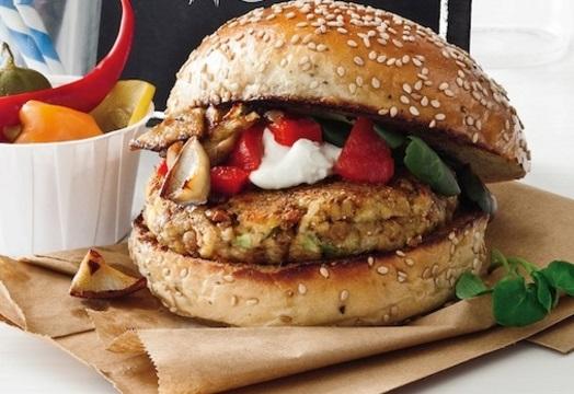 Healthy Wild Mushroom Lentil Burgers