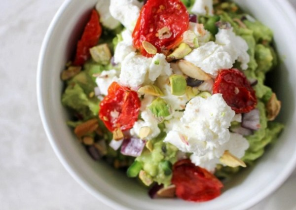Pistachio And Goat Cheese Guacamole
