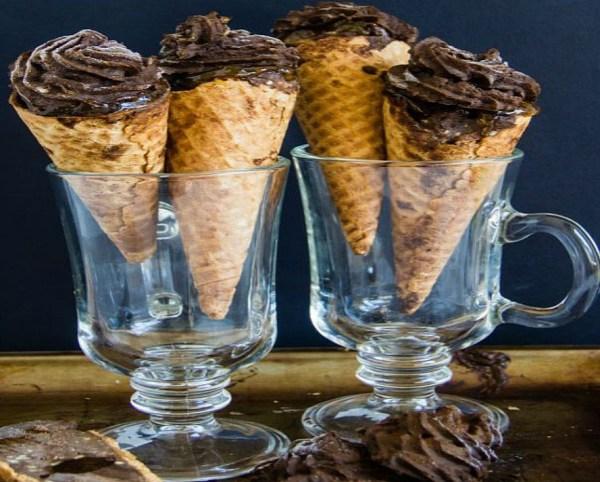Sacher Torte Ice Cream Cones
