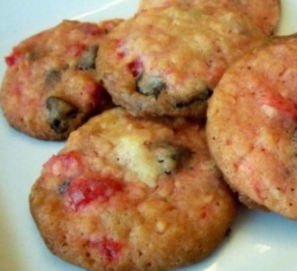 Christmas Chocolate Cherry Cookies