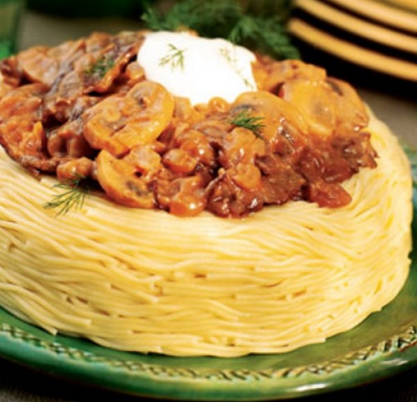 Pasta Ring With Bolognese Filling