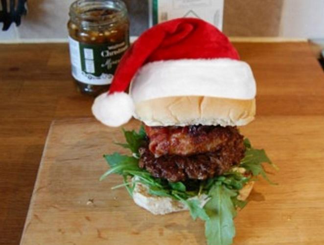 Venison Christmas Burger