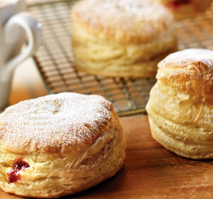 Peanut Butter And Jelly Puff Pastry Donuts