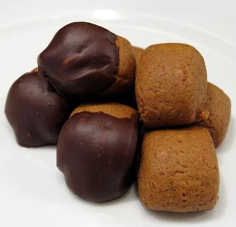 Chocolate Covered Pfeffernuess Christmas cookies