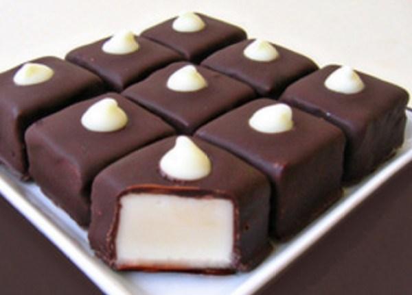 White Fudge Chocolate Candies