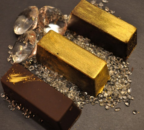 Golden Chocolate Candies
