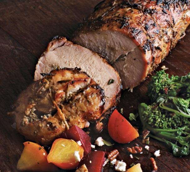 Roast Pork with Rosemary, Sage, and Garlic