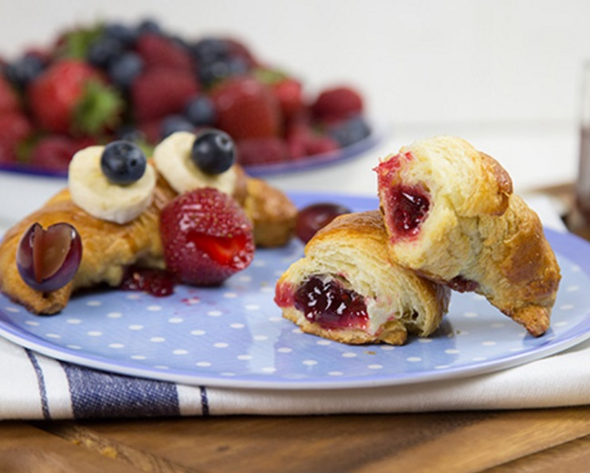Crab-Shaped Raspberry Filled Croissant