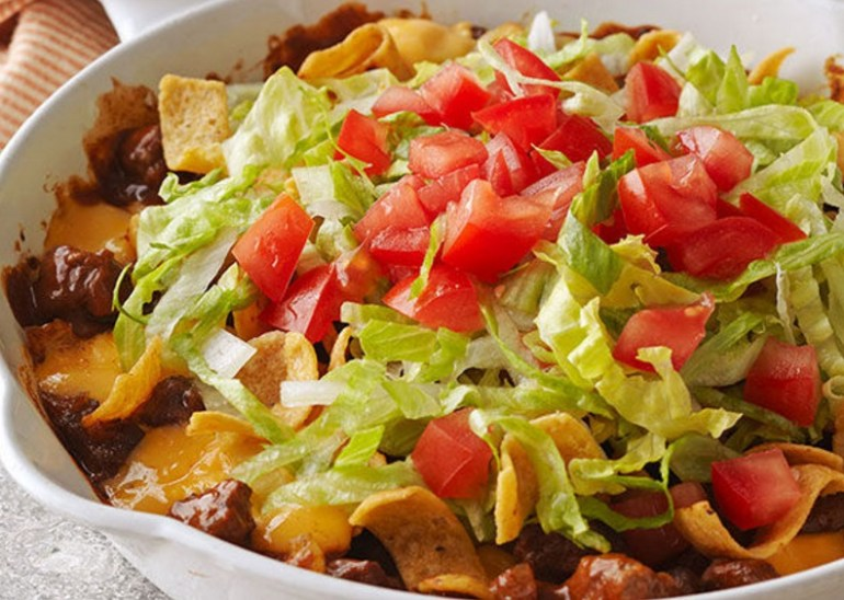 Cheesy Beef & Corn Chip Skillet