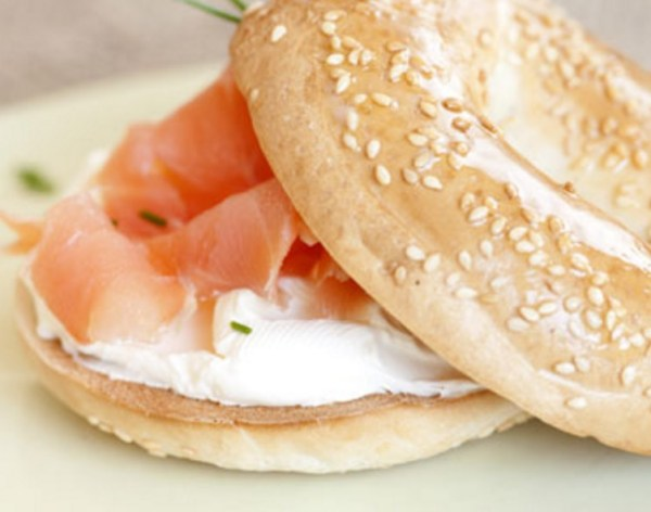 Bagel and Lox With Cream Cheese