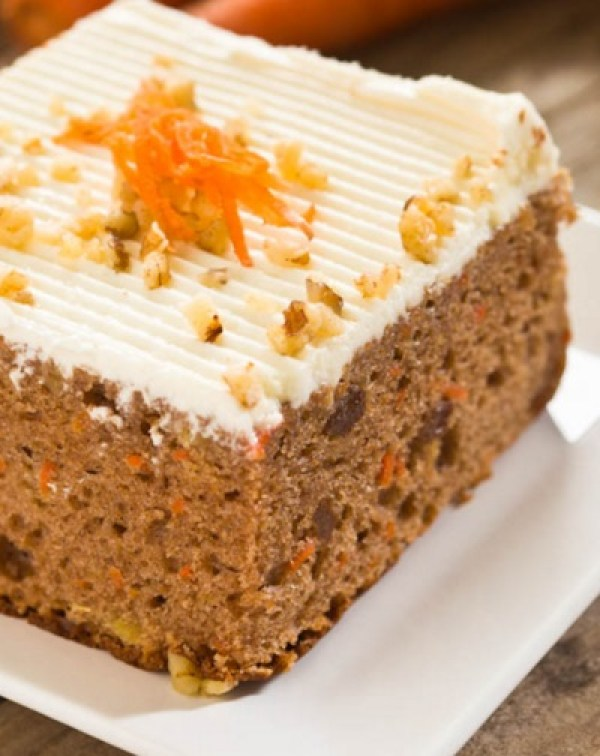 Orange Frosted Carrot Cake
