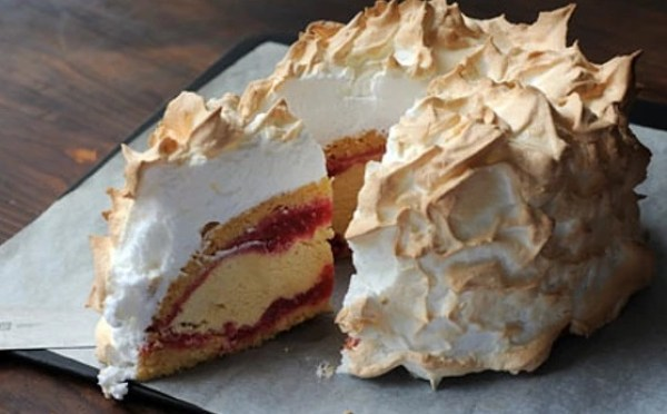 Raspberry Ripple Baked Alaska