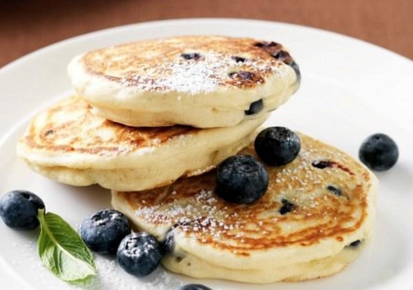 Blueberry And Vanilla Pancakes
