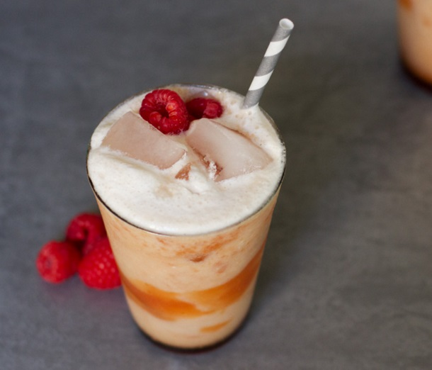 Peach Melba Coconut Cream Soda