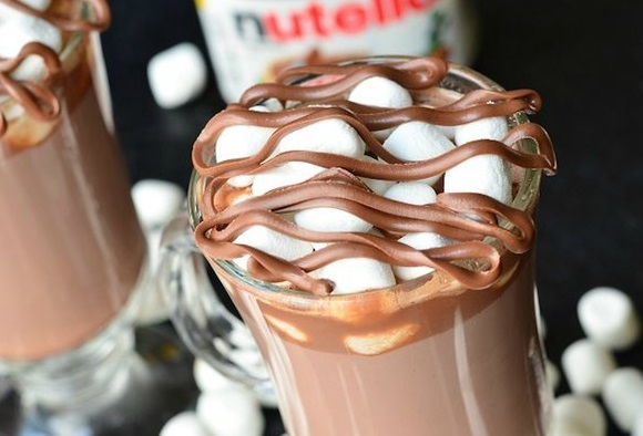 Spiked Nutella Hot Chocolate