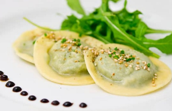 Shiitake And Arugula Ravioli