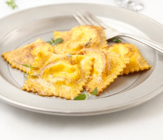 Roasted Carrot Ravioli with Mascarpone Thyme Filling