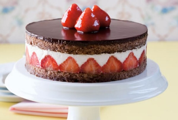 Strawberry & Chocolate Coconut Torte