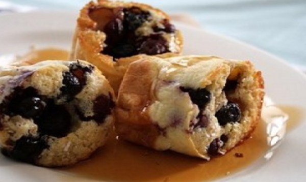 Blueberry Oatmeal Popovers