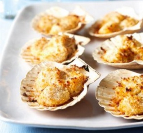 Baked Scallops On The Shell