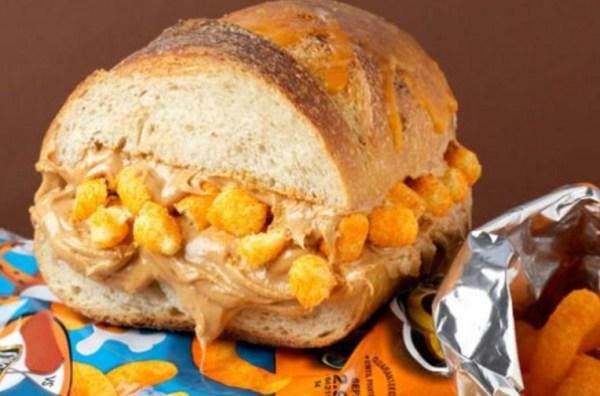 Peanut Butter & Cheese Doodle Sandwich