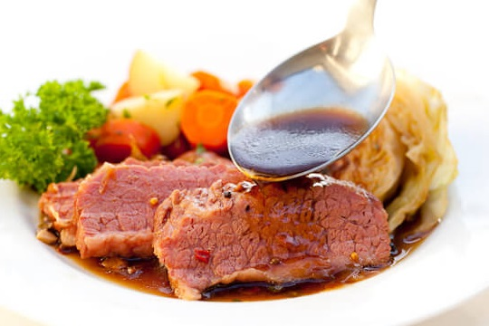 Guinness-Baked Corned Beef and Cabbage