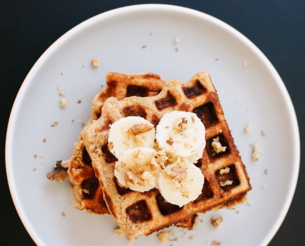 Banana & Oatmeal Nut Waffles