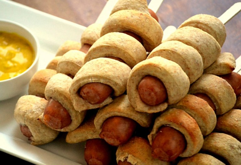 Spiral-Wrapped Sausages on a Stick