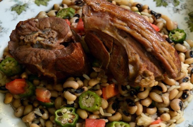 Smoked Turkey Necks with Black-Eyed Peas