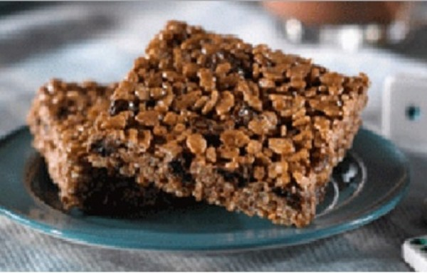 Chocolate Covered Raisin Rice Krispie Treats
