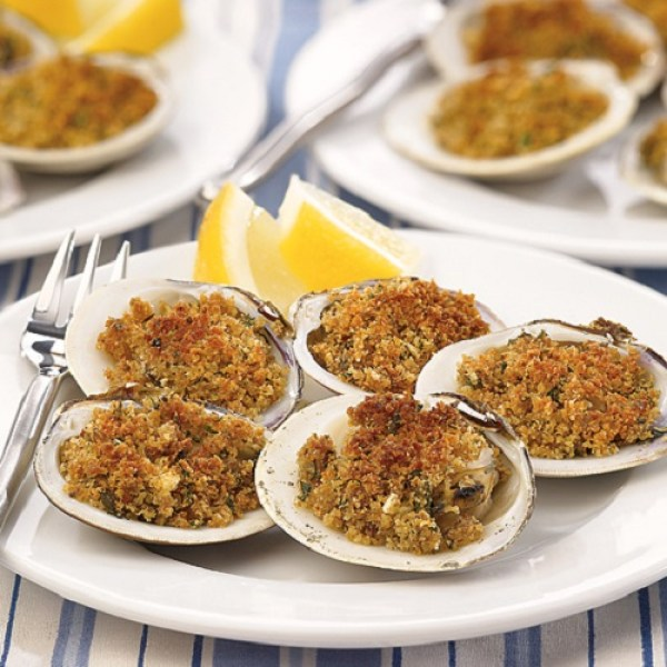 Broiled Clams On The Halfshell