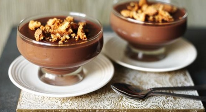 Chocolate And Amaretto Pudding