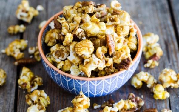 Salted Pecan Caramel Popcorn