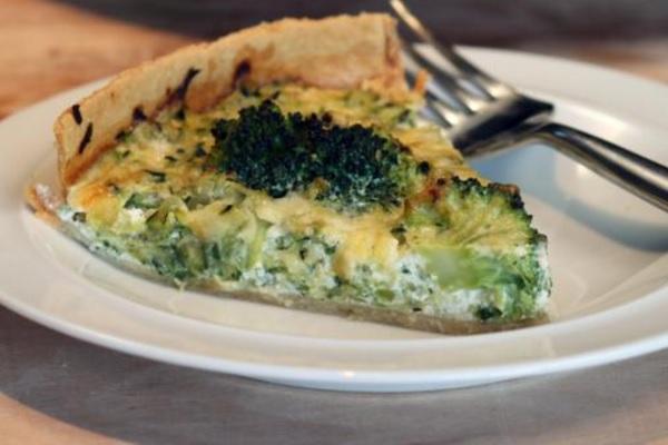 Courgette And Broccoli Quiche