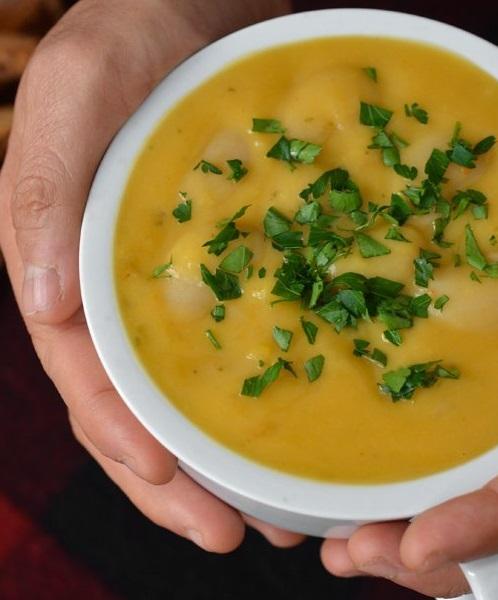 Sweet Potato & Lima Bean Soup