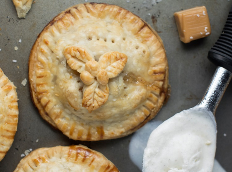 Savory Caramel Mini Apple Pies